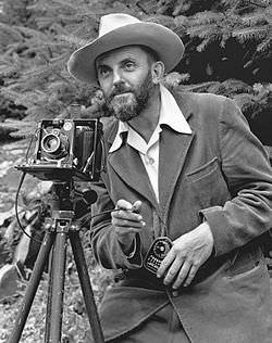 Ansel Adams and camera image