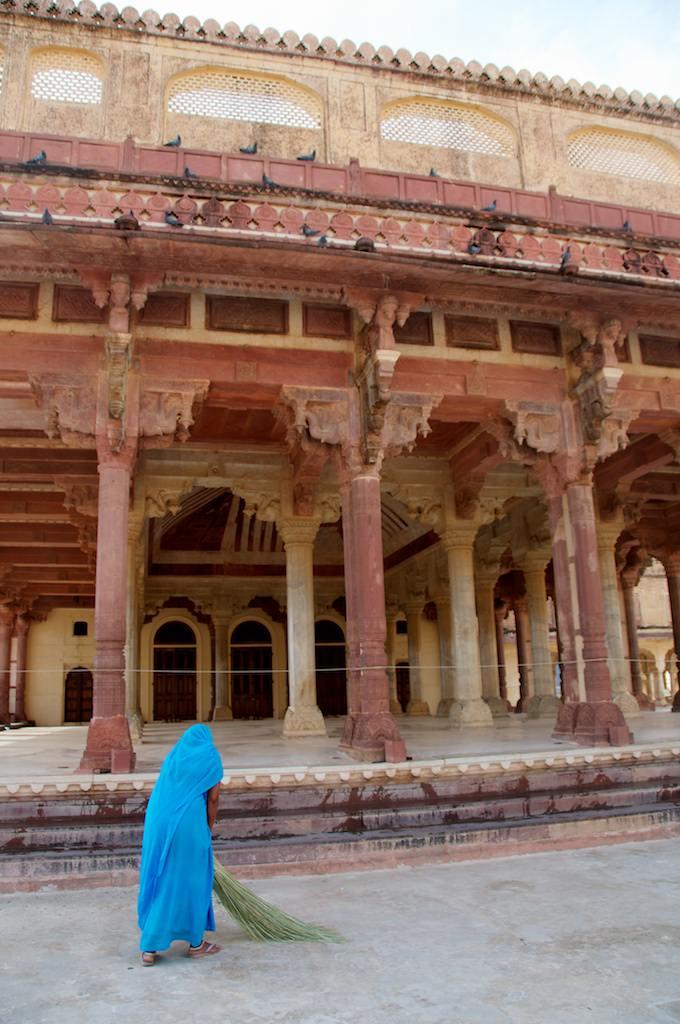 Jaipur-India-Girl in Blue at Amber Palace - Copyright 2011 Ralph Velasco image