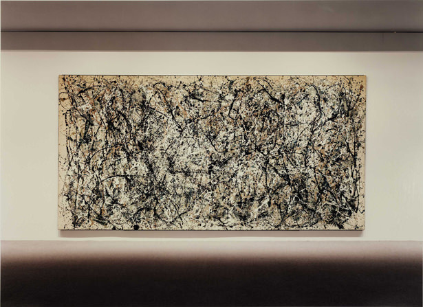 Amazing  ucUntitled VI ud is a photograph of Jackson Pollock us painting ucOne ud probably on display at the Modern Museum of Art At first glance it seems like an