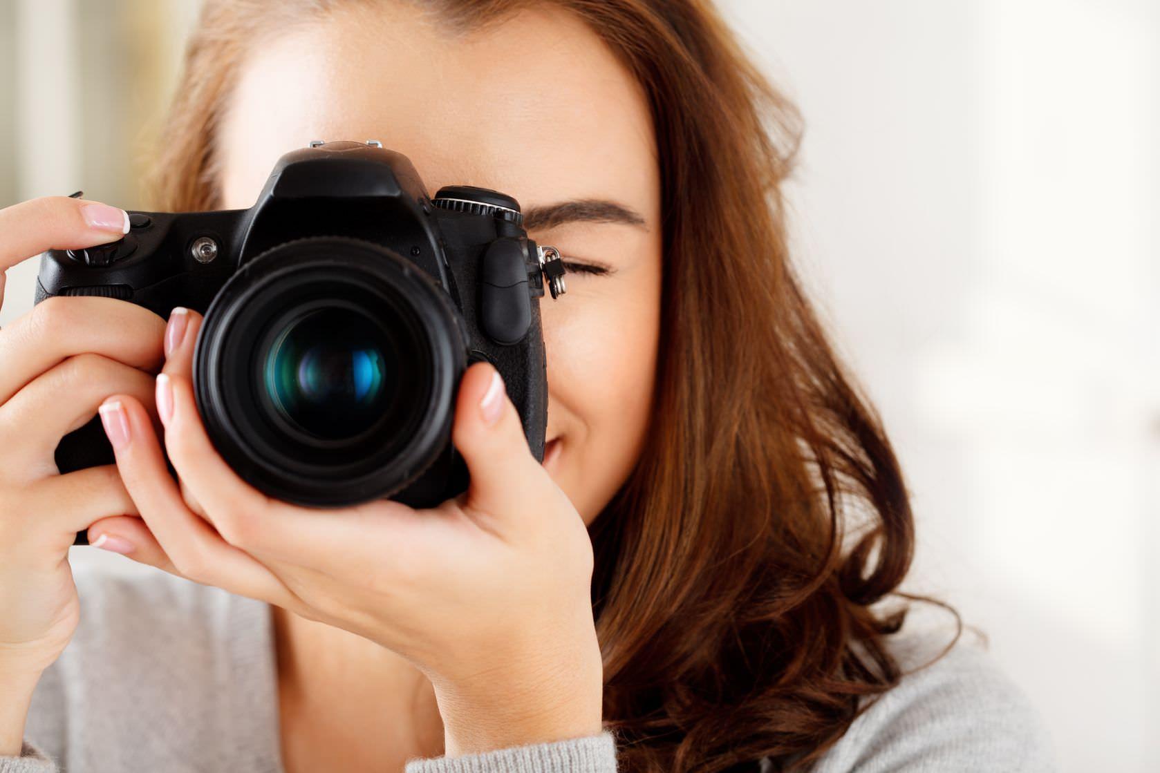Woman Holding Camera image