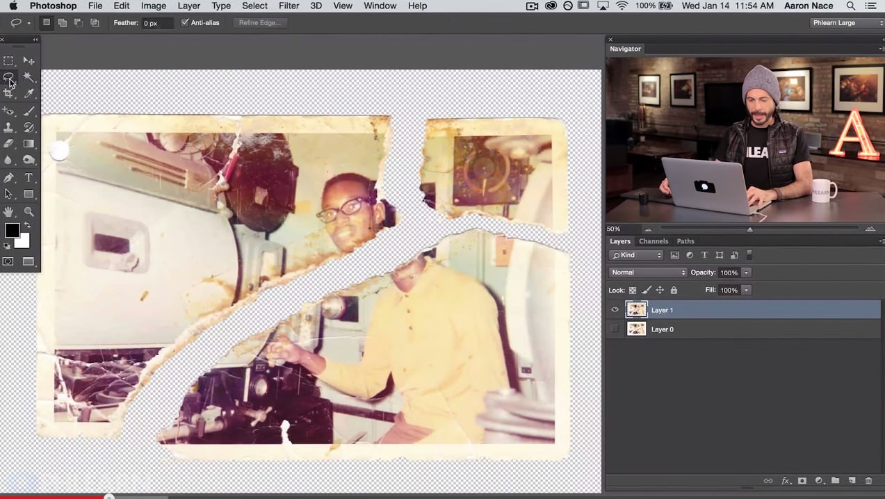 How to Repair an Old Torn Photo in Photoshop image