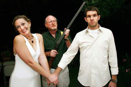 Happy marriages. Insured by angry fathers with shotguns since forever. image