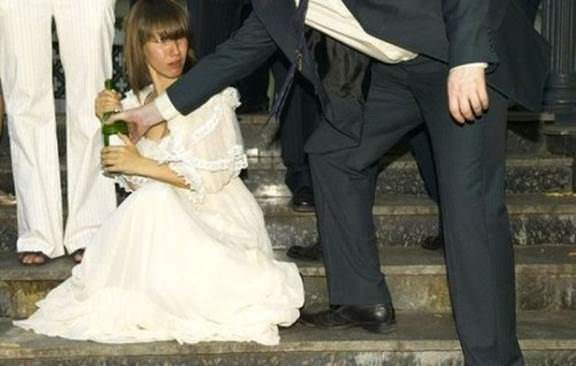 Now here's a bride with crystal clear priorities. image