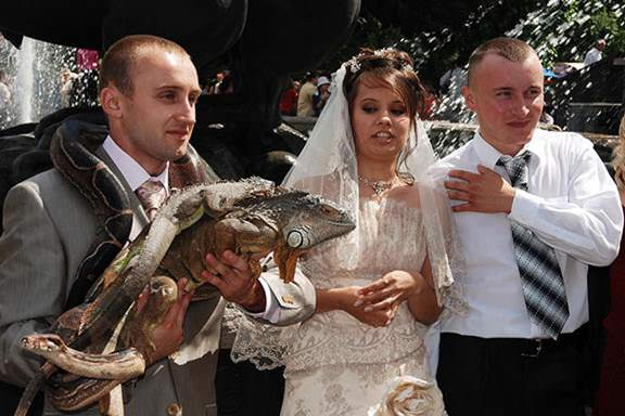 Here's a wedding with some distinguished guests. image