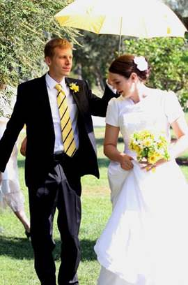 Now there's a happy groom ! image