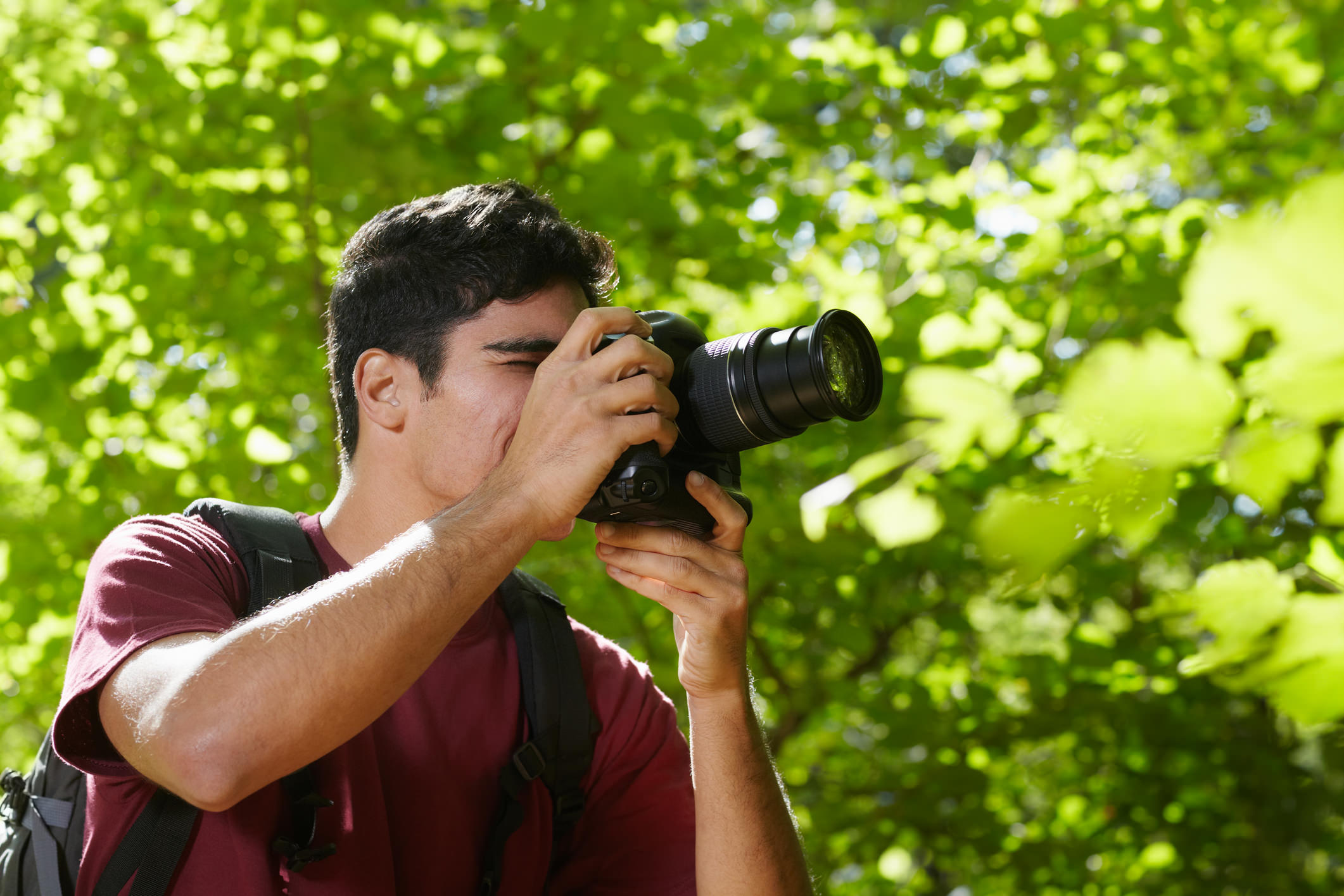 Man with camera image