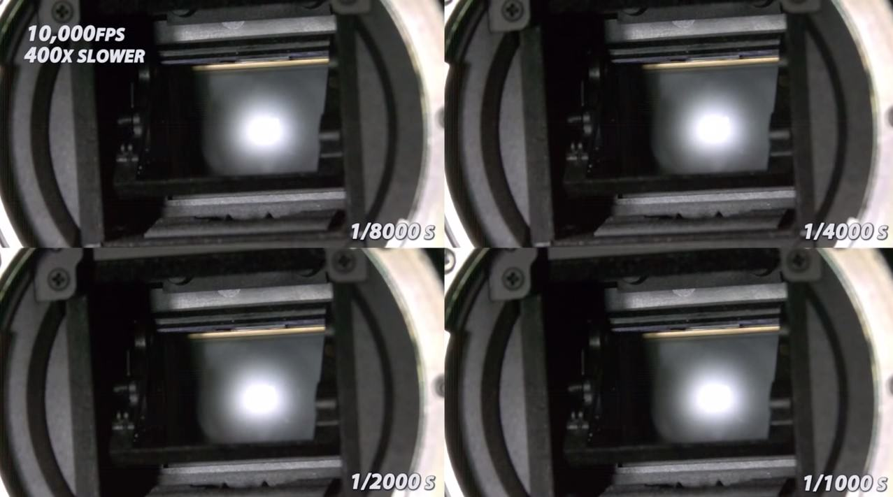 Awesome Slow Motion Footage Shows How Your Camera Shutter Works at 10000 Frames per Second image
