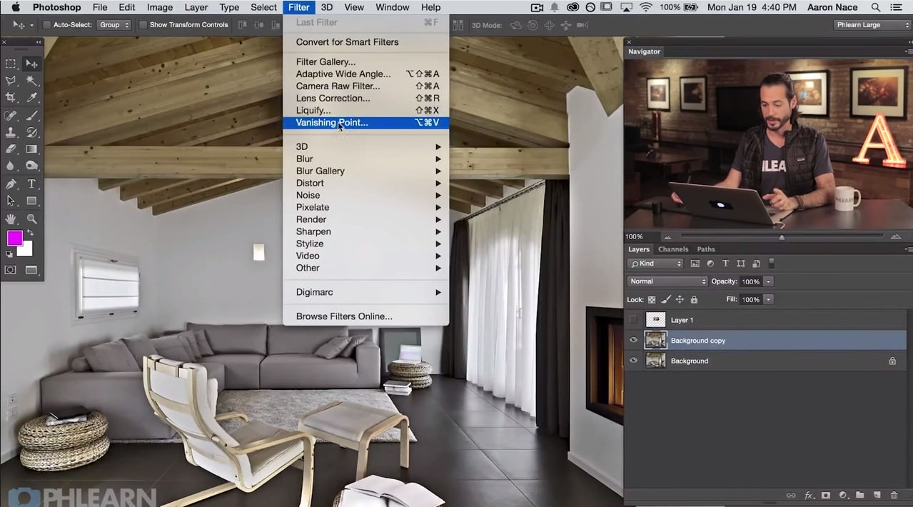 How to Use the Vanishing Point Filter in Photoshop image
