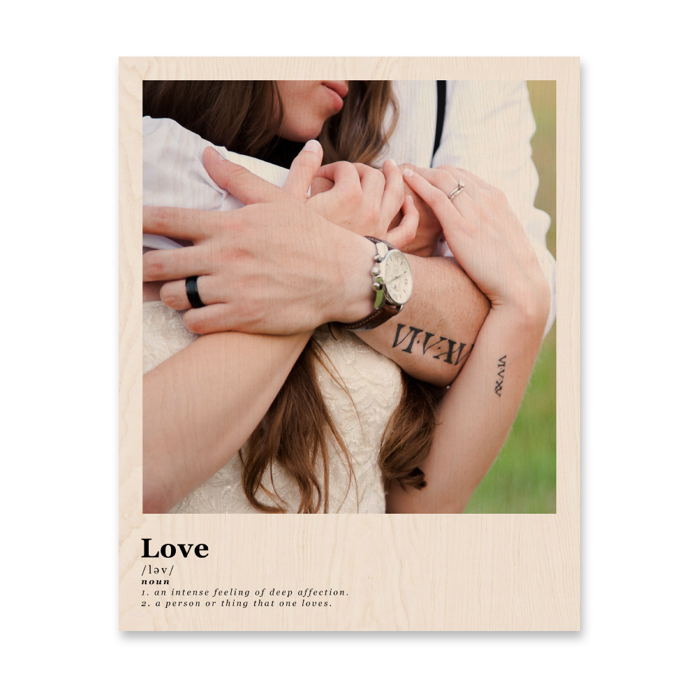 love definition wood print image