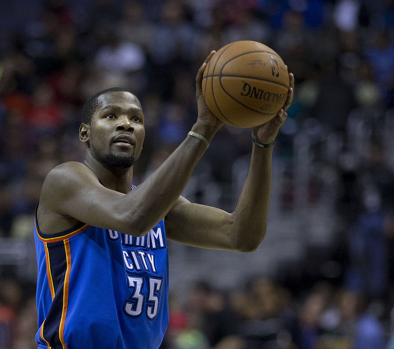 Kevin durant free throw 2014 image