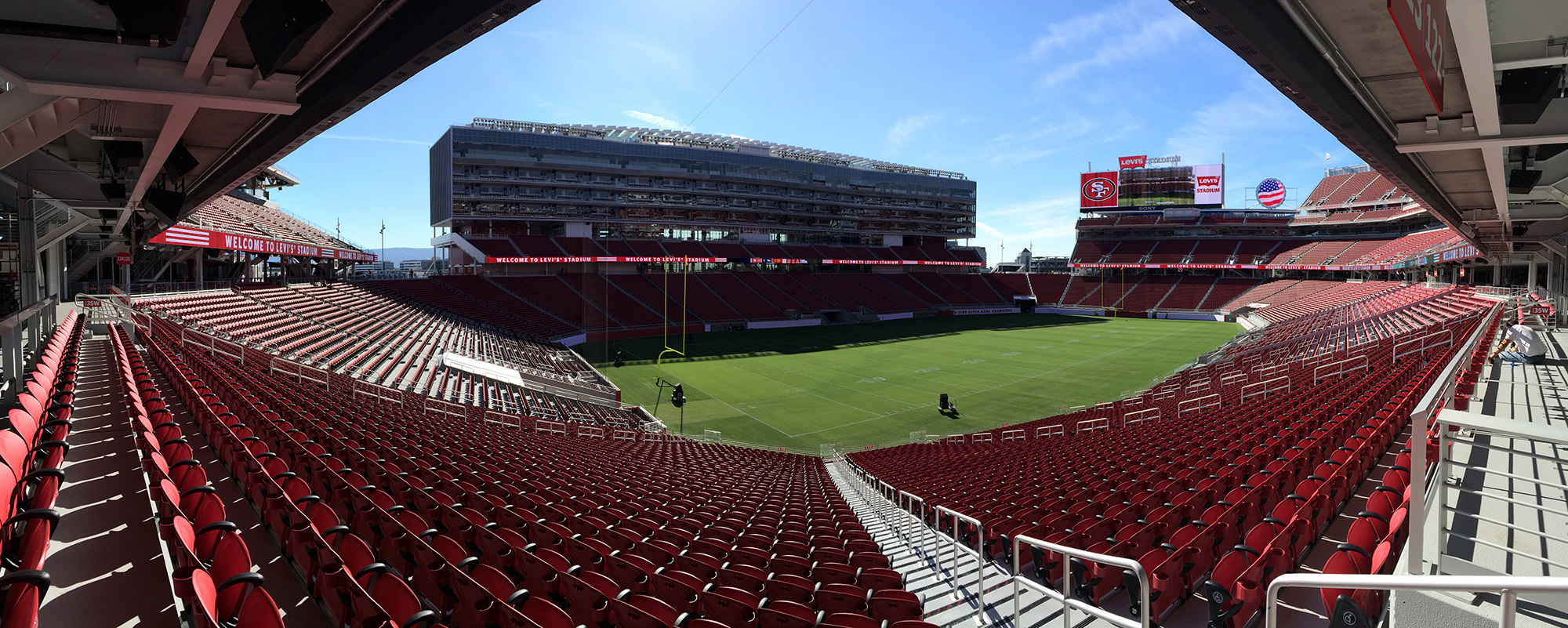 Panoramic view of Levis Stadium image
