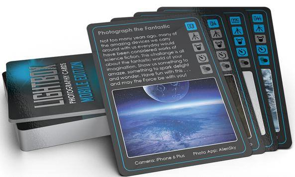 lightbox photography cards mobile edition image