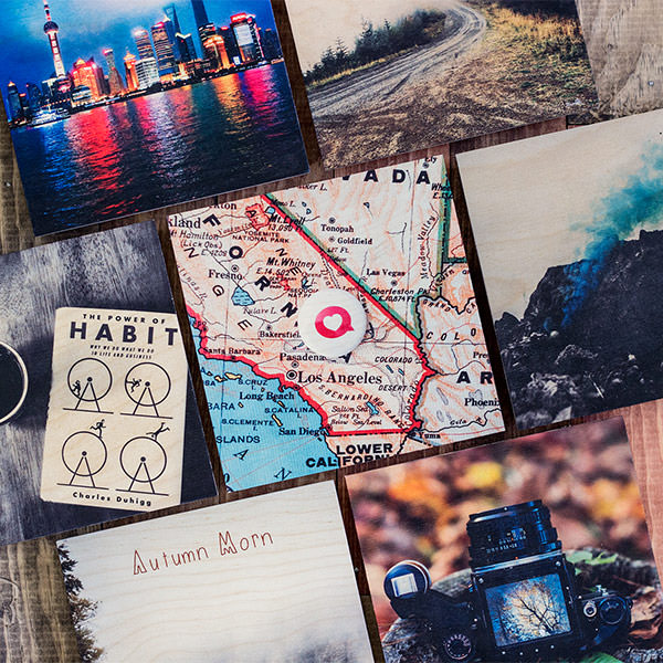 navigation photos on wood image