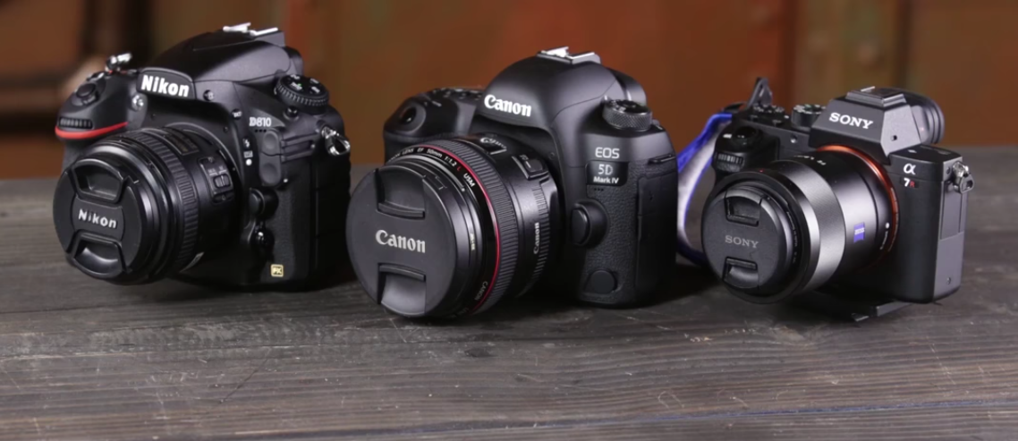 canon nikon sony side by side image