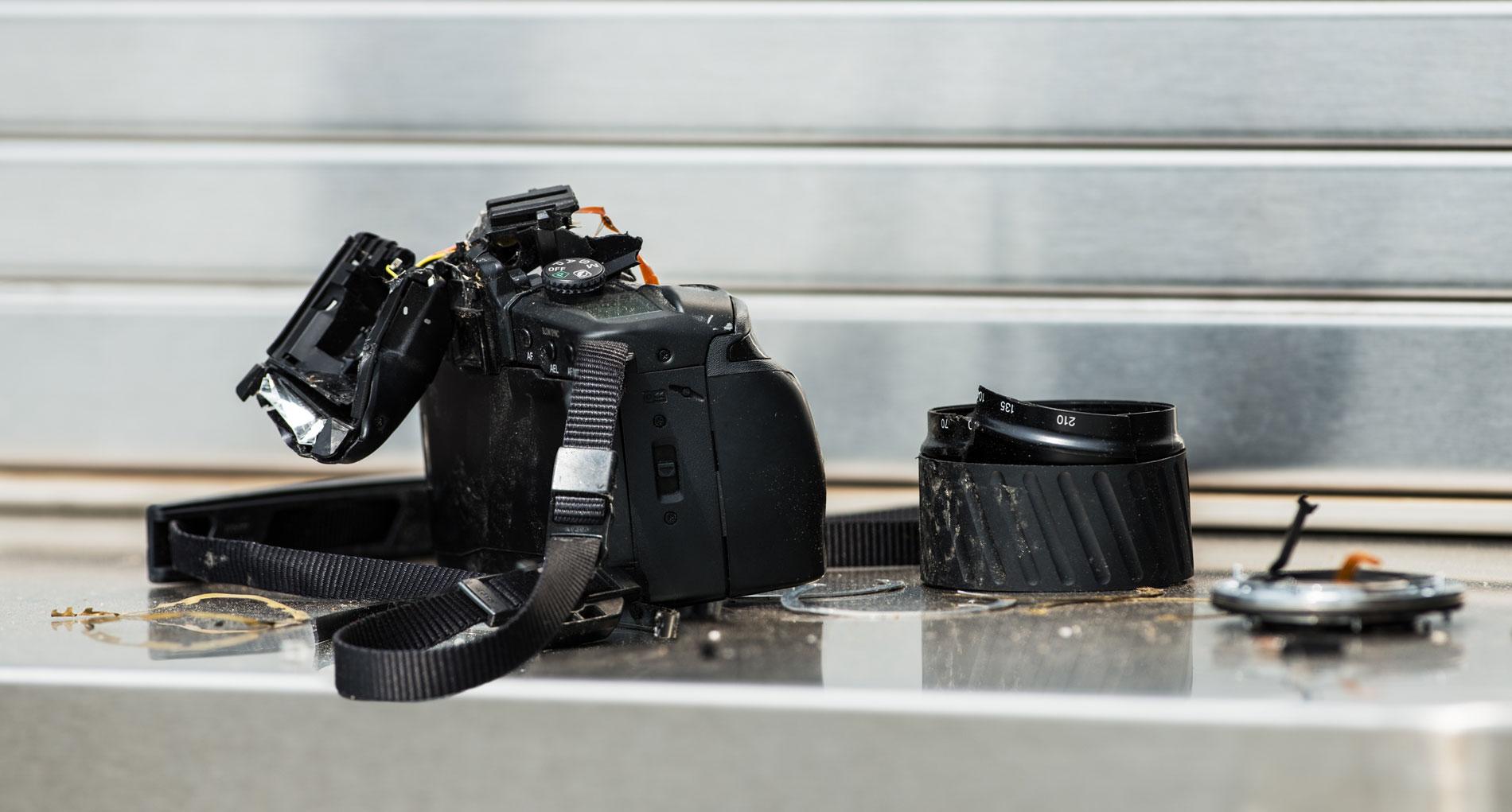 damanged camera