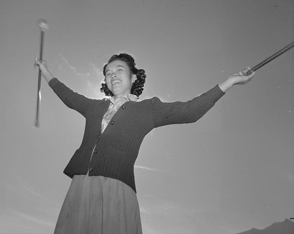 1024px Baton practice Manzanar Adams image