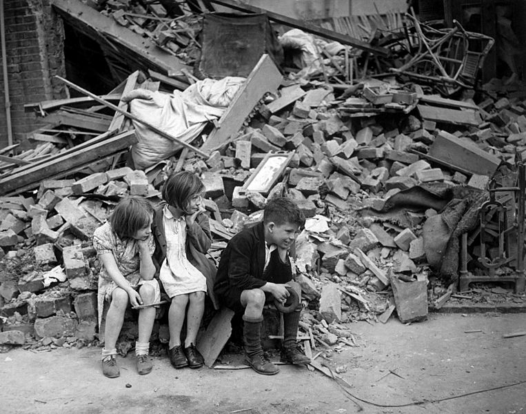 763px WWII London Blitz East London image