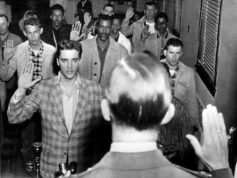 797px Elvis sworn into army 1958 image