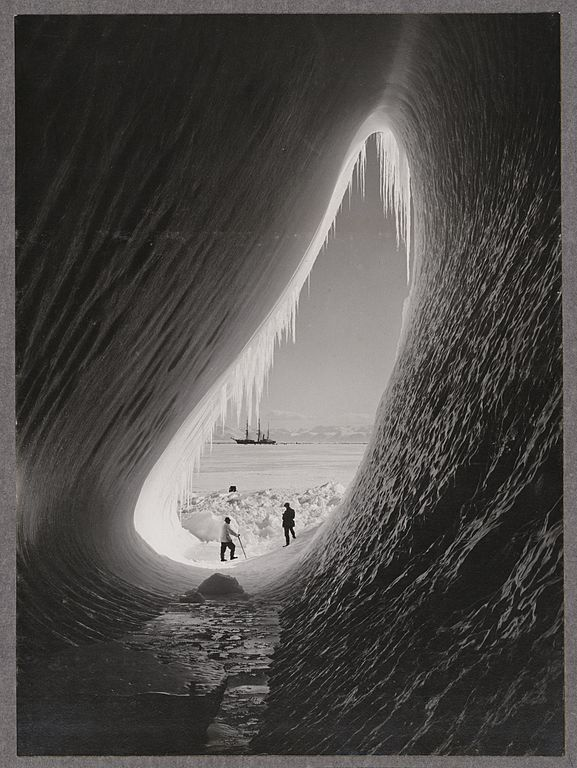 Grotto in an iceberg image