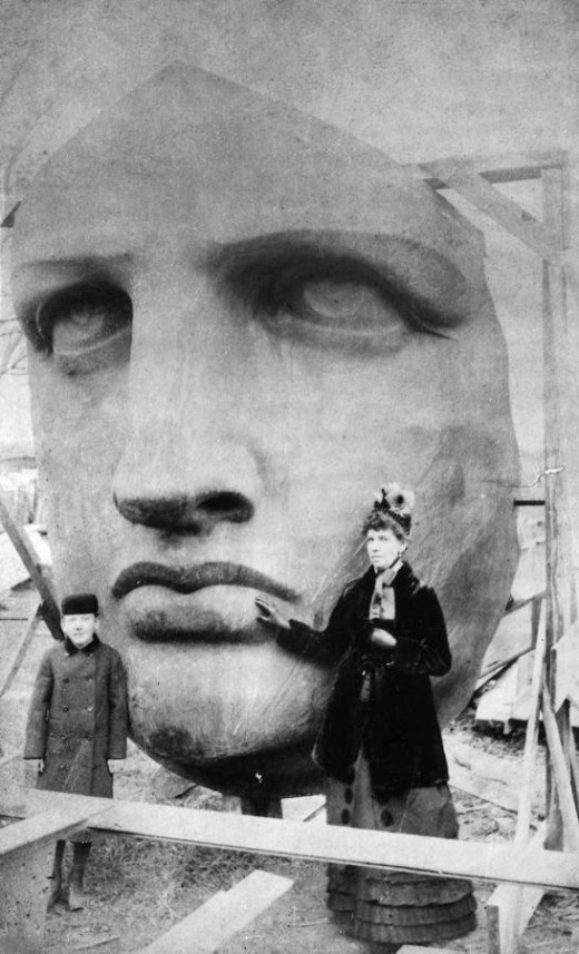 Head of the Statue of Liberty 1885 image