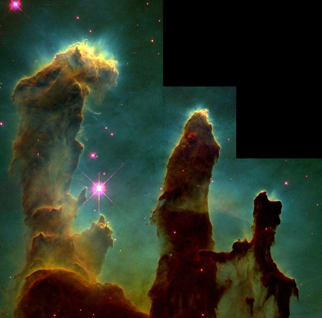 Eagle nebula pillars image