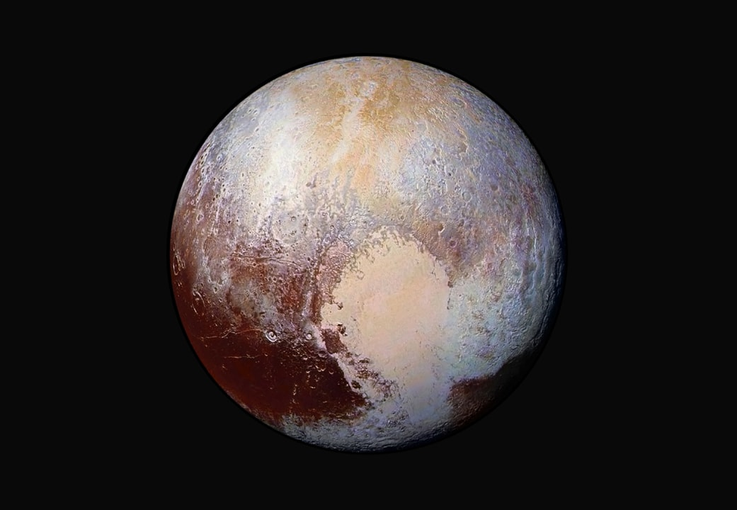 nh pluto in false color min image