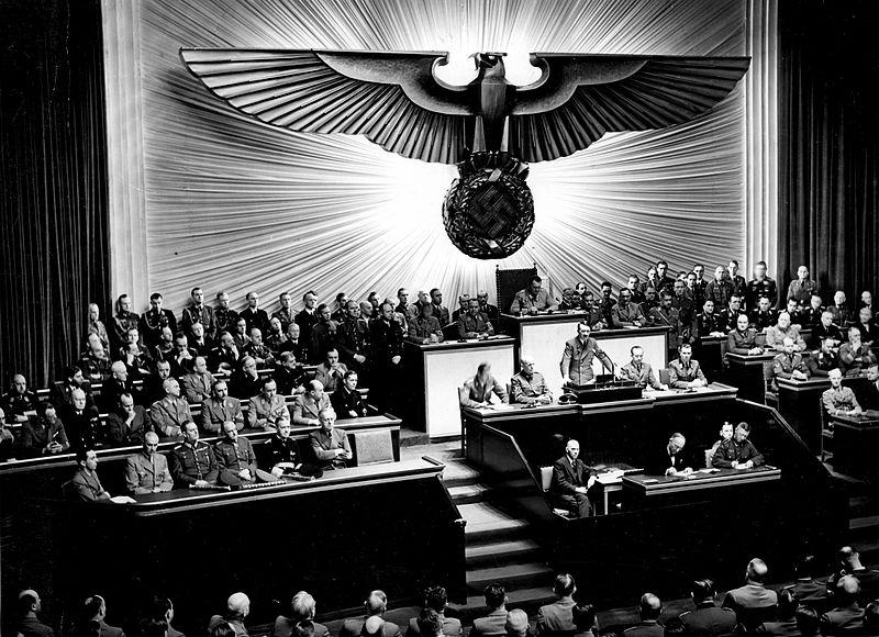 Bundesarchiv Bild 183 1987 0703 507 Berlin Reichstagssitzung Rede Adolf Hitler image