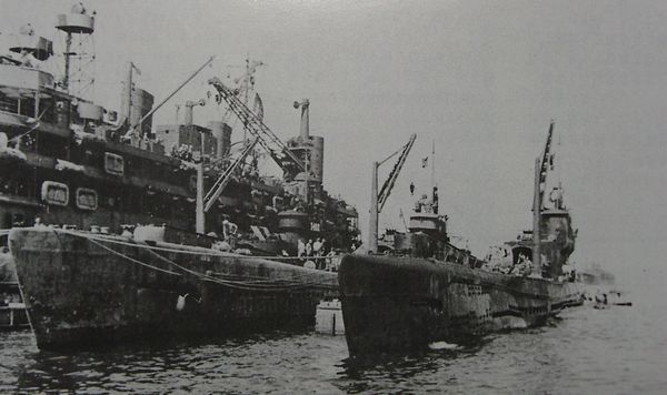 Japanese submarine I 14 in 1945 image