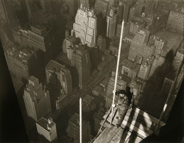 Raising the Mast Empire State Building by Lewis W Hine image