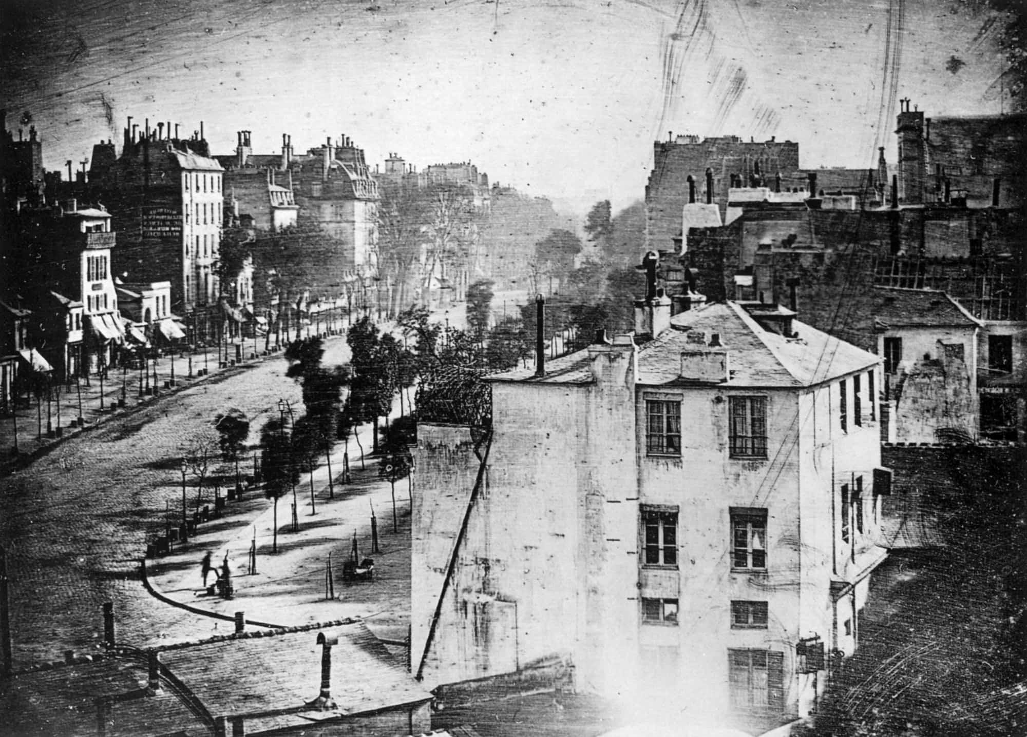 Boulevard du Temple by Daguerre min image