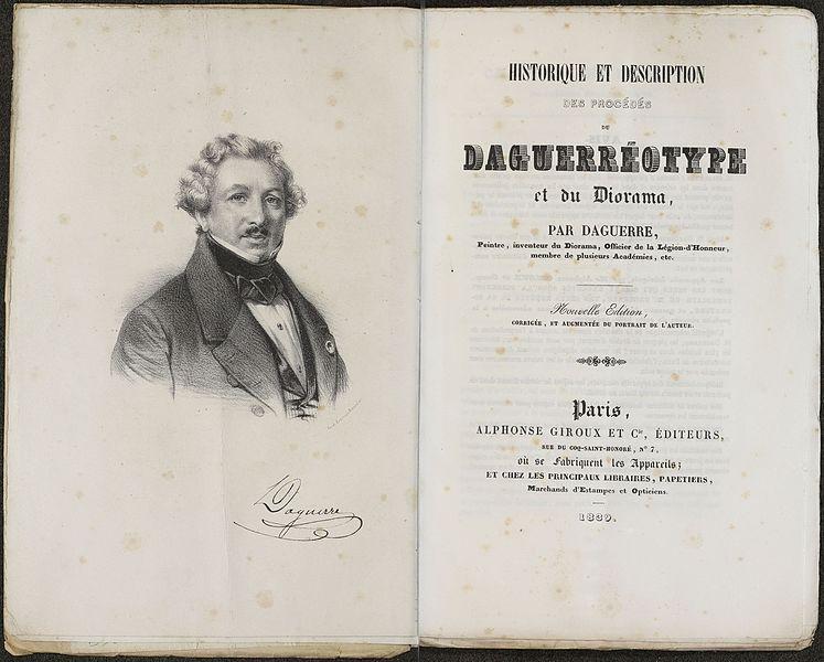 Daguerre Manual 1839 title pages image