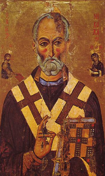 357px St Nicholas Icon Sinai 13th century image