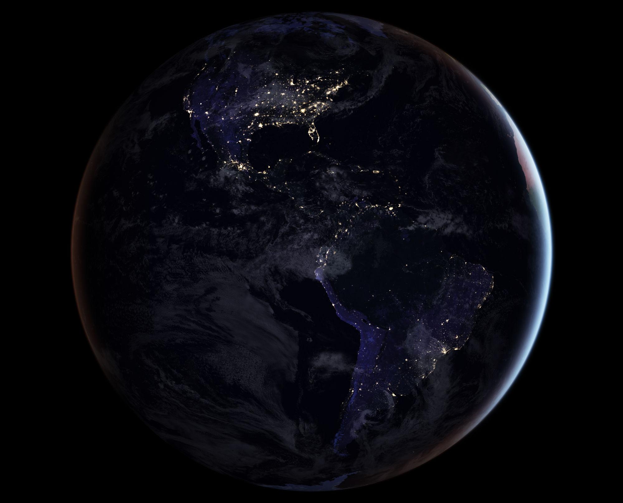 blackmarble 2016 americas composite image