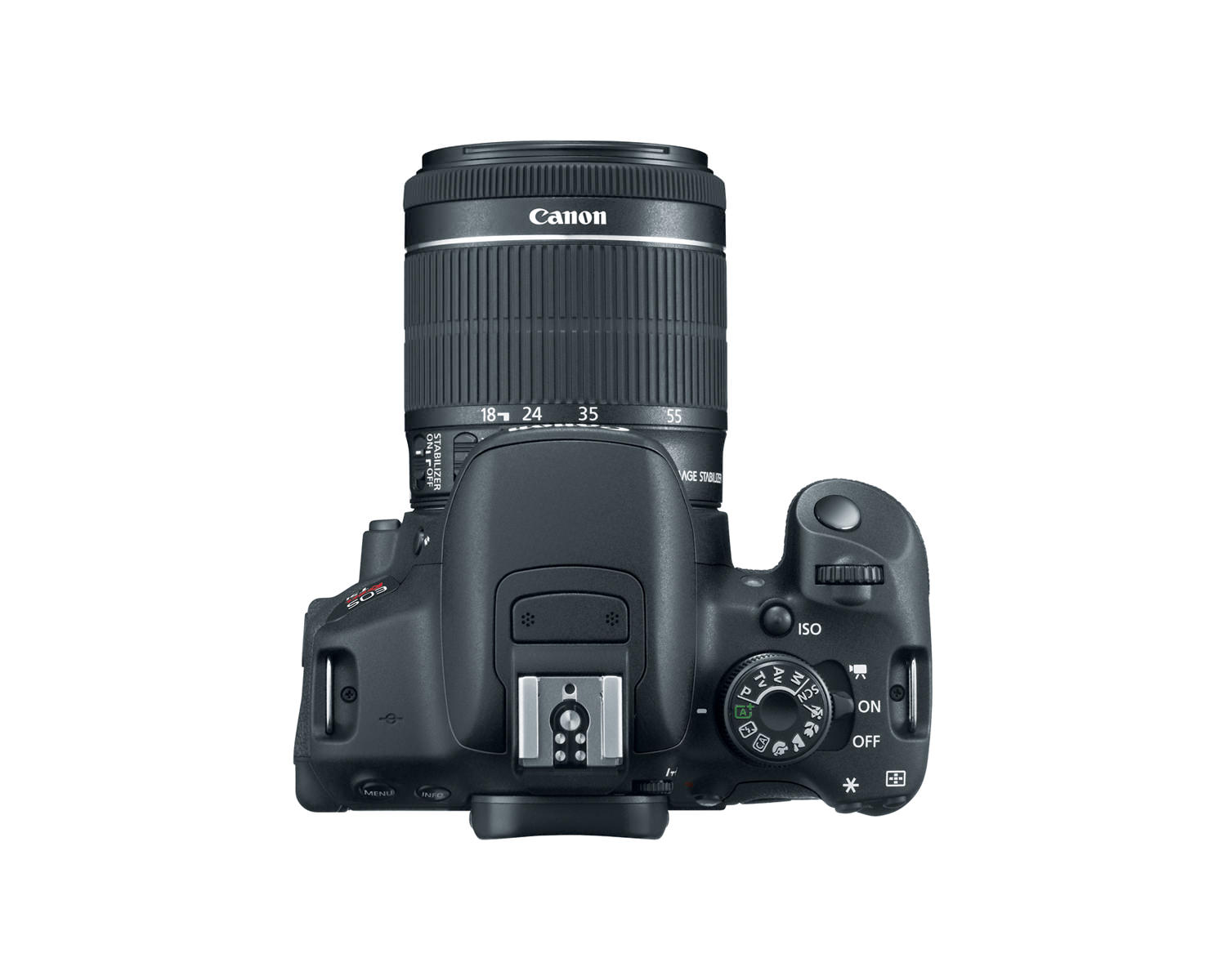 canon eos rebel t5i ef s 18 55mm is stm lens top hires image