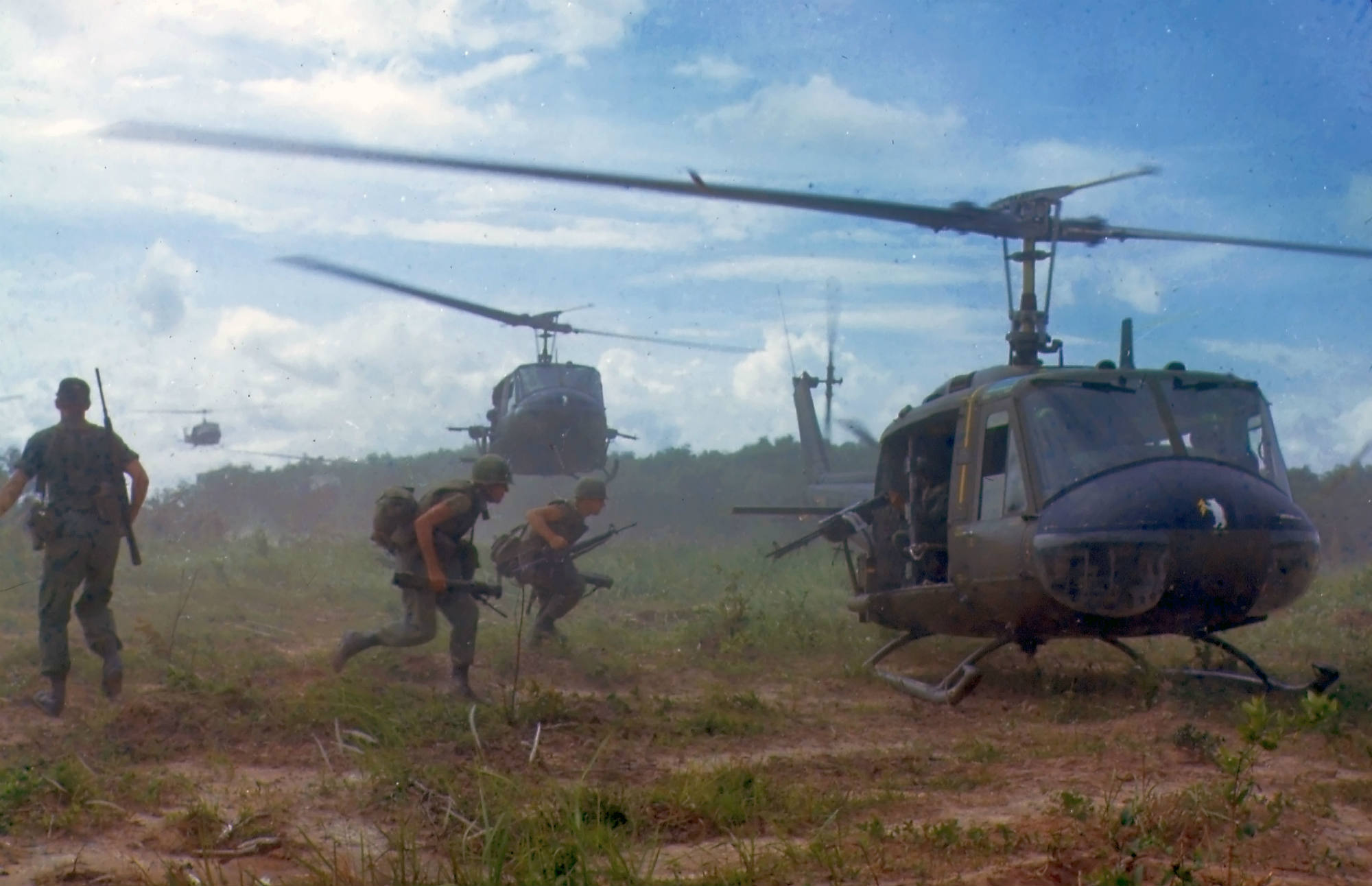UH 1D helicopters in Vietnam 1966 image