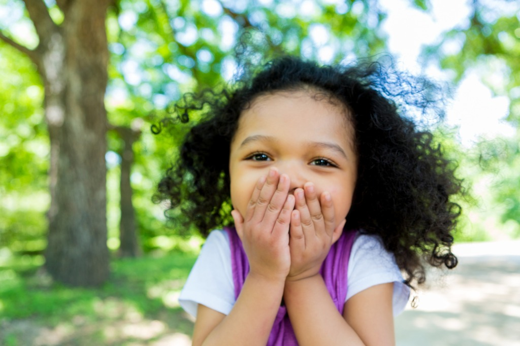 adorable mixed race girl in the park picture id638362400 image