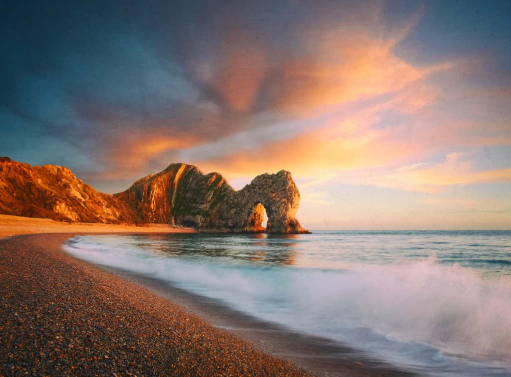 durdle door composite picture id658426016 image