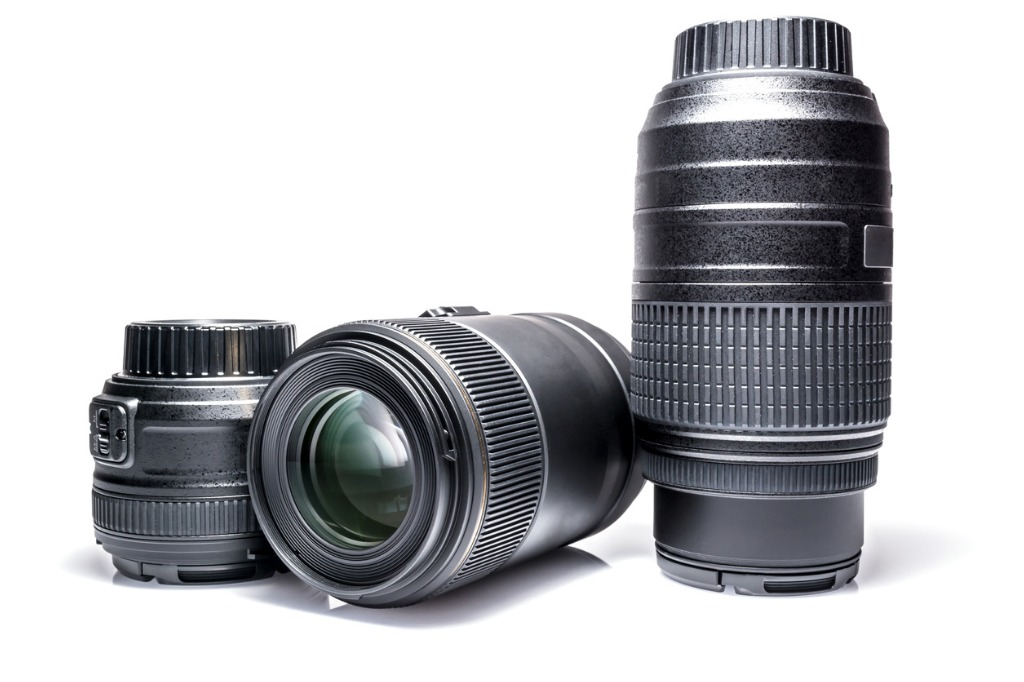 lenses to a slr camera closeup with reflection isolated on a white picture id685774430 image