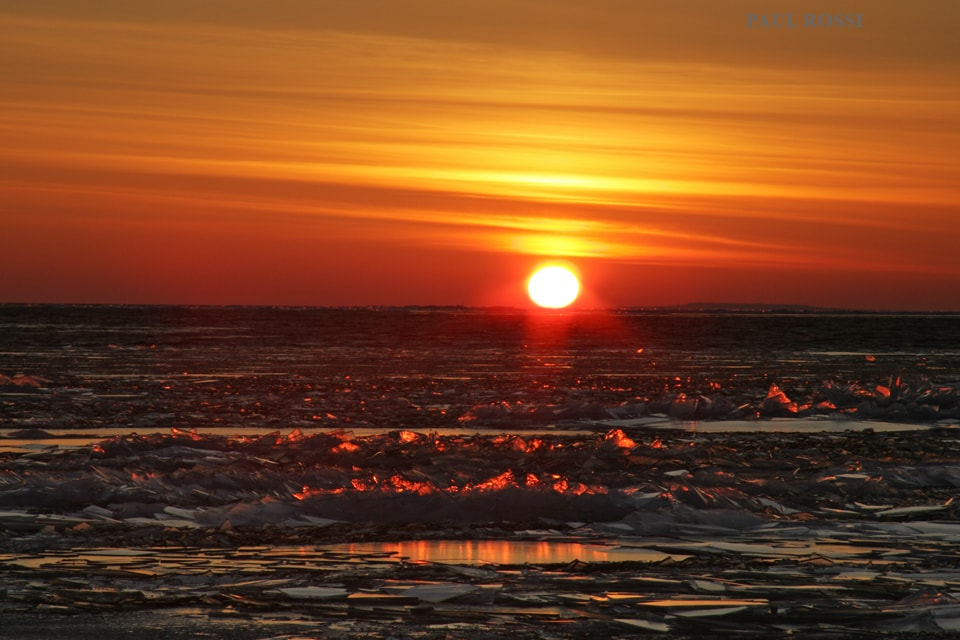 Lake Huron Ice Embers Sunset min image