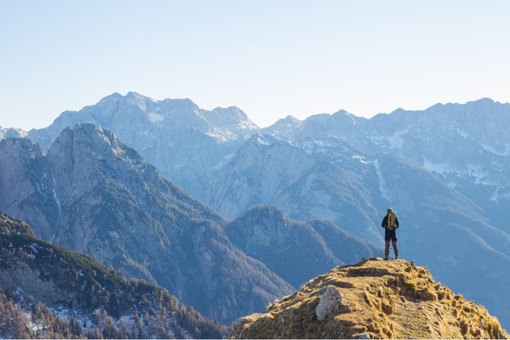 Alpinist Enjoying The View Over Mountains In Alps Picture Id626523054 Image
