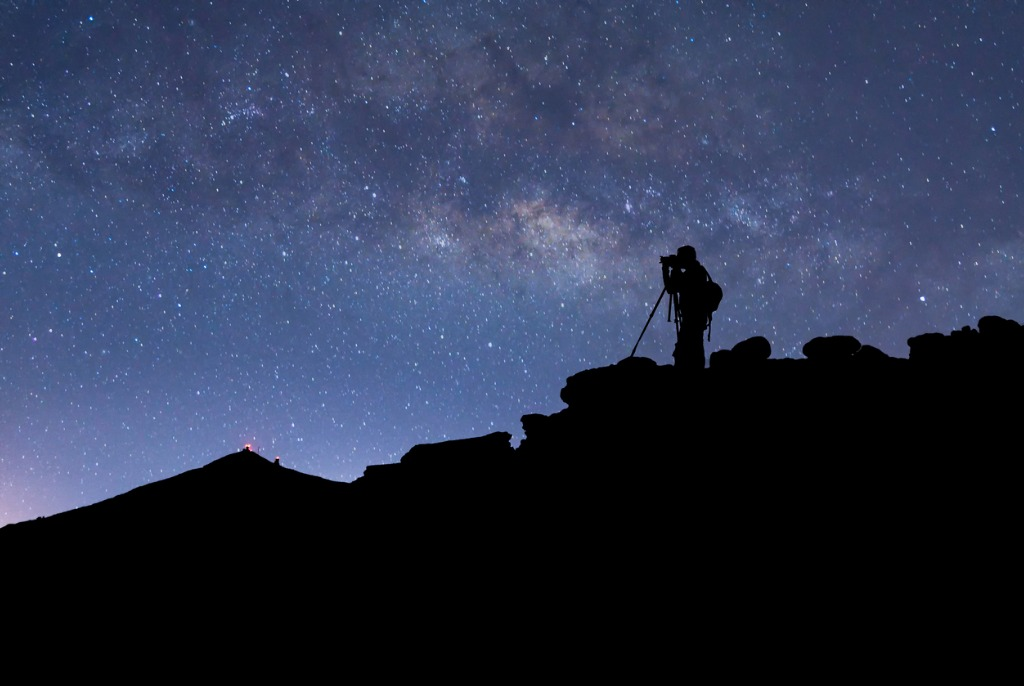 photographer stars and milky way picture id545654176
