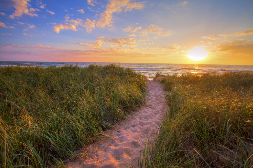 sunset beach path panoramic background picture id832047798 image