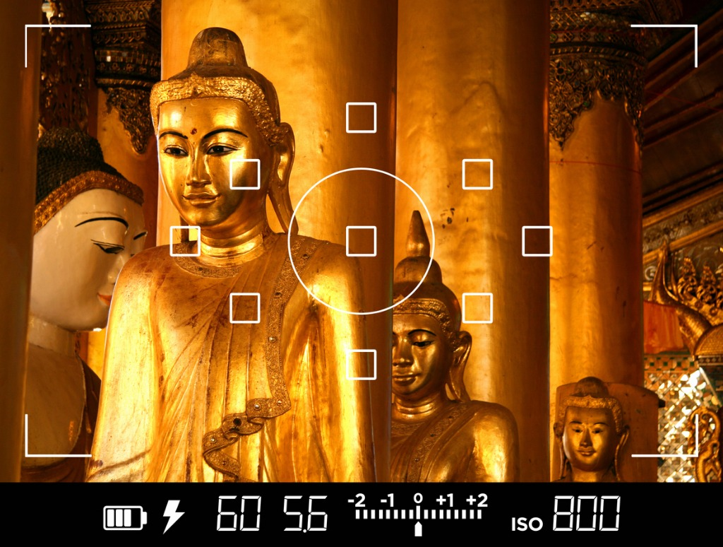 view through camera viewfinder photographing buddha statues in asia picture id510480966 image