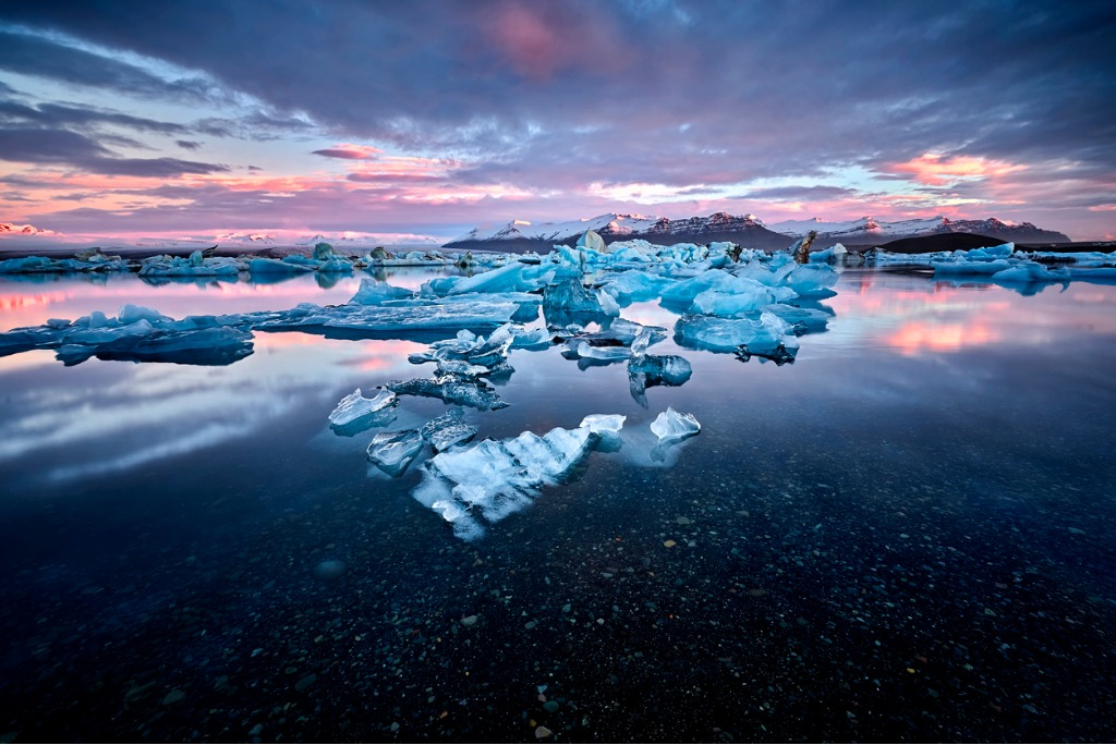 beautiful cold landscape picture of icelandic glacier lagoon bay picture id648569098 image
