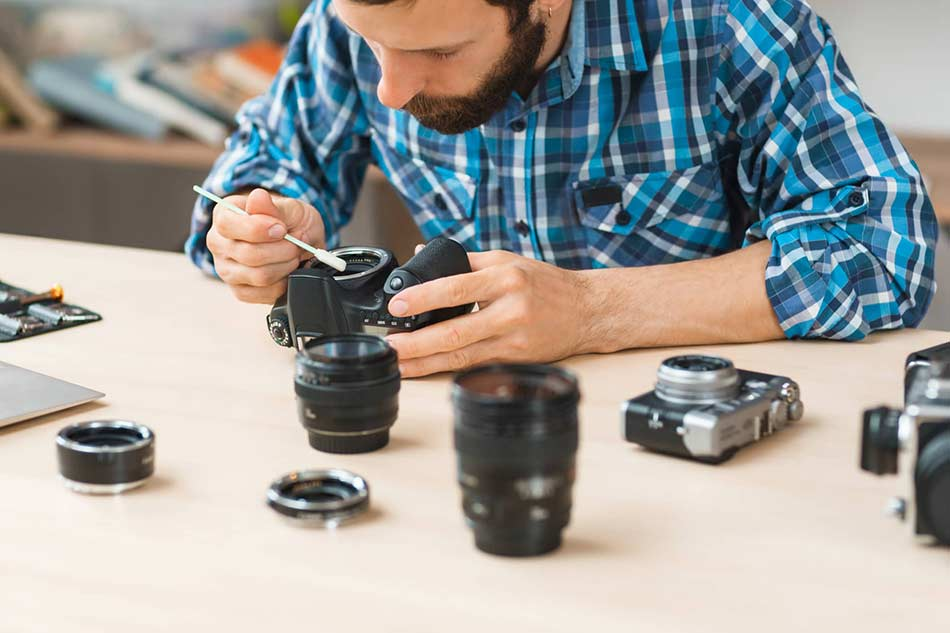 You will have to give your DSLR camera regular maintenance and care
