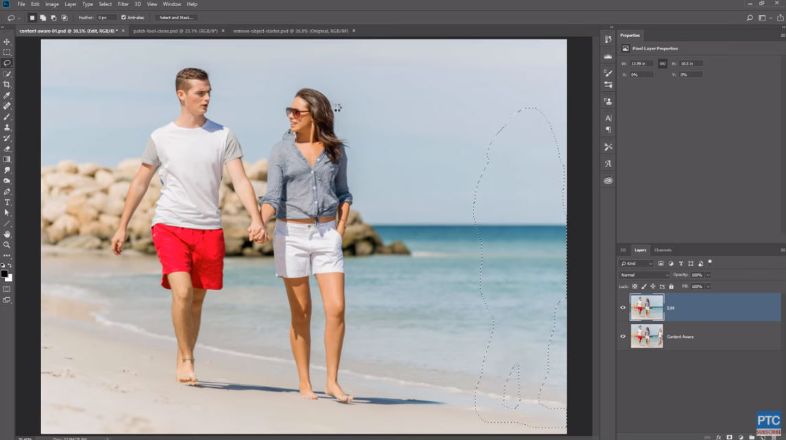 how to make a selection in photoshop image