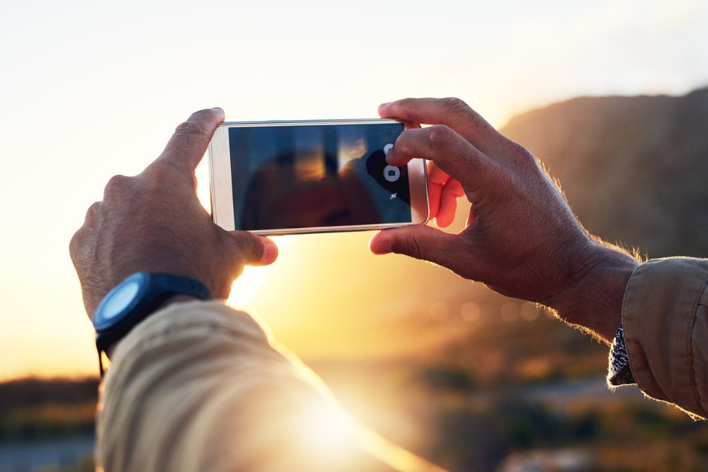 taking pictures with an iphone image