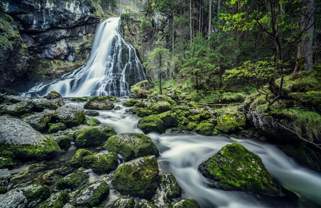 austria salzburg beautiful waterfall in golling picture id869241564 image