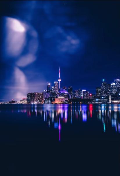 taking photos at night image