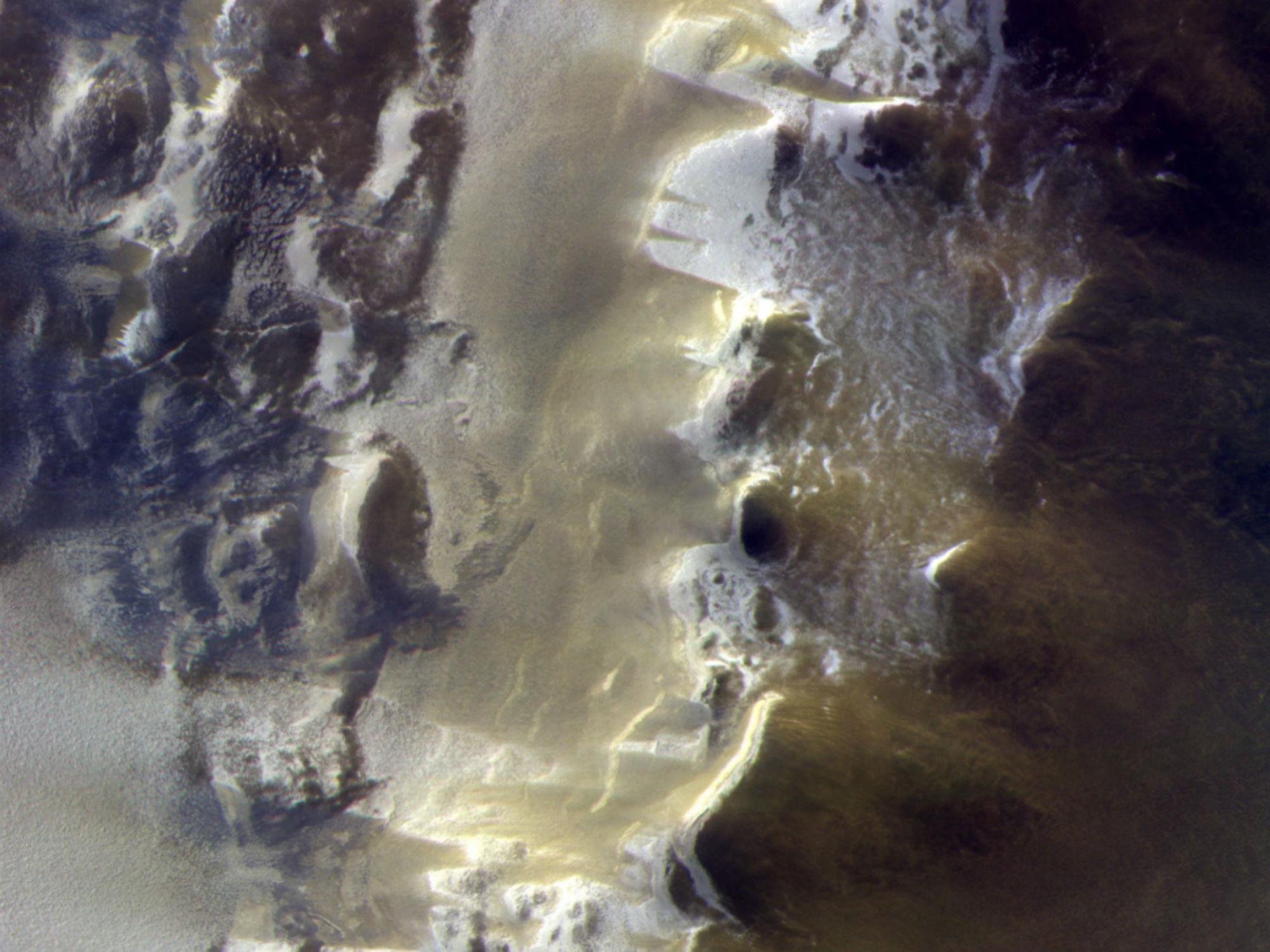ExoMars images Korolev Crater Crop image